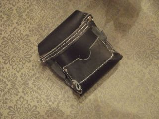 Black Leather Dog Treat Bag Pouch Agility Bait Training