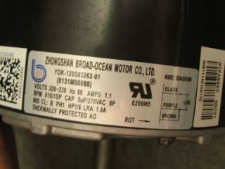 zhongshan broad ocean air conditioning fan motor 1 6 hp 810 rpm ydk