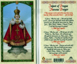 Infant Prague Jesus Novena Catholic Holy Card Prayer
