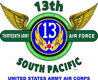13TH ARMY AIR FORCE*UNITED STATES ARMY AIR CORPS*SOUTH PACIFIC* WINGS