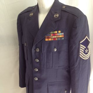 Decorated US Air Force Dress Uniform Jacket WWII Service