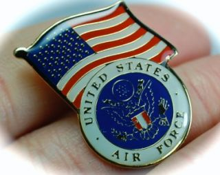 welcome gold us air force american flag lapel pin medal usaf