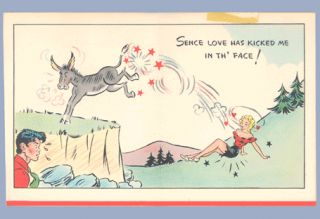 Vintage Valentine Card Lil Abner 1940s Hallmark Al Capp