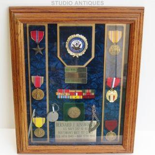 War II Group Bernard J Ainsworth USS Enterprise US Navy WW2