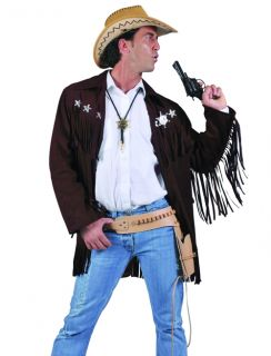 Mens Cowboy Sheriff Western Halloween Costume Jacket