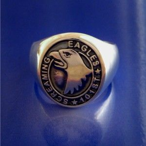 Screaming Eagles 101st Airborne Ring Sterling Silver Size 8 to 13