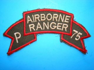 US P Co Airborne Ranger 75th Infantry RGT Scroll Patch