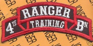 4th RTB Airborne Ranger School Cadre Scroll Patch