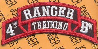 4th RTB Airborne Ranger School Cadre Scroll Patch