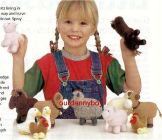 ALAN DART~ XMAS~ Toy Doll Sewing Pattern ~ FARM ANIMALS in a BARN BAG