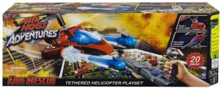 Air Hogs Adventures Fire Rescue Tethered Helicopter Playset Toy RC 20