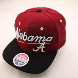 Alabama Crimson Tide Roll Tide NCAA Snapback Hat Cap Shadow Script