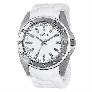 ak anne klein women s 10 9179wtwt silver tone swarovski crystal white