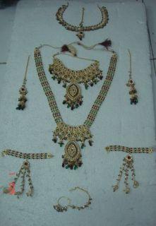 Gold Polish Polki Bridal Wedding Necklace Jodha Akbar 9