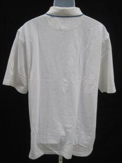 NWT ALAN FLUSSER Mens White Polo Golf Shirt Top Size L