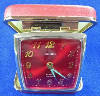 Vintage Seiko Travel Alarm Clock WindUp Collectors Item Antique