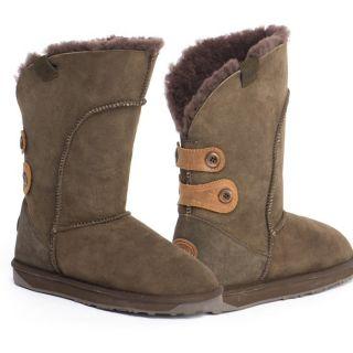 New Womens Emu Alba Australian Sheepskin Boots Chocolate W10088 $160