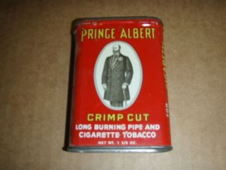 Prince Albert Crimp Cut Pipe and Cigarette Tobacco Can