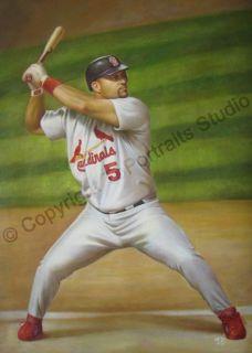 Albert Pujols St Louis Cardinals Original Oil Painting