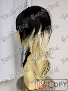 Gal Gyaru Punk Long Black Platinum Blonde Fashion Wig