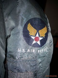 Vtg 50s. Korean War USAF N 3B flight jacket Parka.Black Label.Stencil