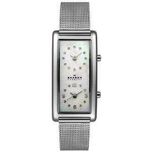 Skagen Womens 20SSSMP Steel Collection Dual Time Zone Stainless Steel