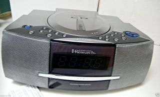 Emerson Research Smart Set CD Player Radio Alarm Clock MODELCDK5809