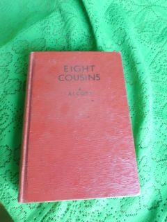 Antique 1930 Louisa May Alcott Eight Cousins Book