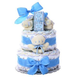 features of boy s two tier diaper cake a unique basket that anybody