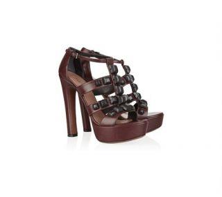 Azzedine ALAIA Studded Leather Platform Sandal Shoes 40