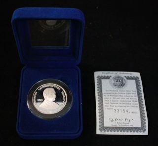 PRESENTIAL ELECTION SILVER PROOF COIN / GEORGE W. BUSH AND ALBERT GORE