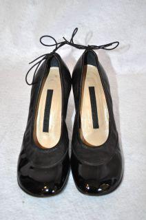 Alessandro Dell Acqua Size 8 5 Black Patent Leather Pumps