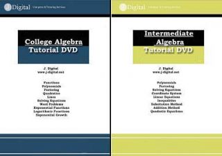 Algebra for Military Exams Tutorial DVD Astb ASVAB