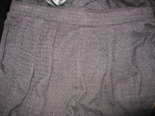 Juicy Couture Womens Sz L Prestige Black Jacquard Capri Dress Pants