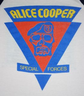 Vintage Alice Cooper Special Forces Tour Shirt 1981 M