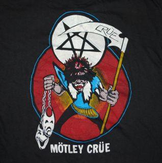 Vtg Motley Crue 85 Allister Fiend Shirt 1985 L Original