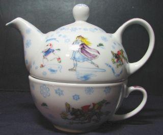 NEW Paul Cardew Alice in Winterland Wonderland Tea for One Teapot Cup