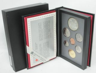 1989 Royal Canadian Mint Proof 7 Coin Set Commemorative Silver Dollar