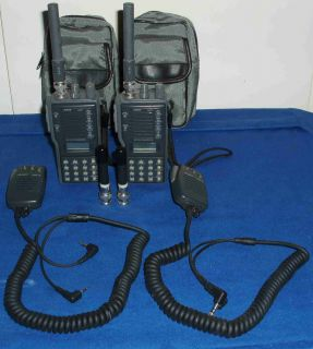 Alinco DJ F1 VHF Transceiver Pair of Two with Many Extras Great VHF
