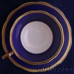 Royal Albert Crown China Teacup and Saucer Heavy Lavish Gold Gilt