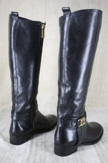 Tory Burch Alessandra Black Leather Tall Riding Boots Size 6 $5495 New