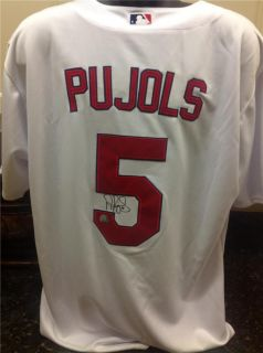 Albert Pujols Signed Cardinals White Authentic Jersey (Pujols Hologram