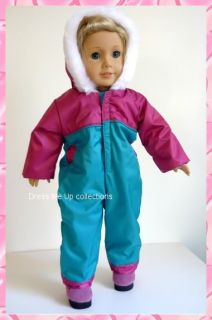 Doll Snow Ski Clothes  Hooded Ski Suit Fit American Girl Dolls 908