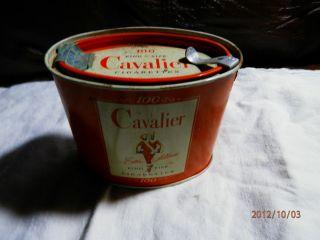 Cavalier Cigarette Oval Tin A J Reynolds Tobacco Winston Salem