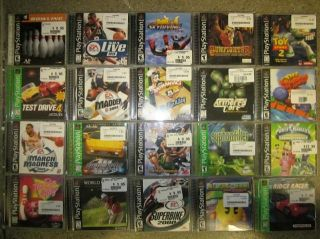 this is a lot of 20 working playstation games all items are in good