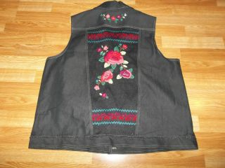 Alfred Dunner Black Denim Vest Womens Size 18 Alfred Dunner Top
