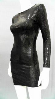 Dylan Alexa Misses M Sequin Mini Above Knee Semi Formal Dress Black