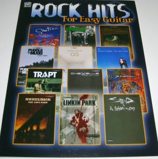 Rock Hits for Easy Guitar Easy Guitar Song Book New