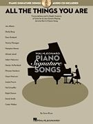 All The Things You Are Jazz Piano Sheet Music Song Book