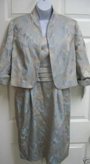 New Alex Wedding Mother Bride Formal Dress Jacket 12